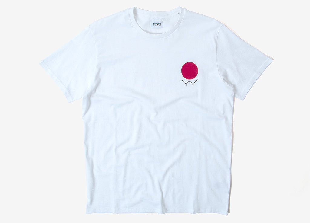 Edwin Red Dot Logo 2 T Shirt - White