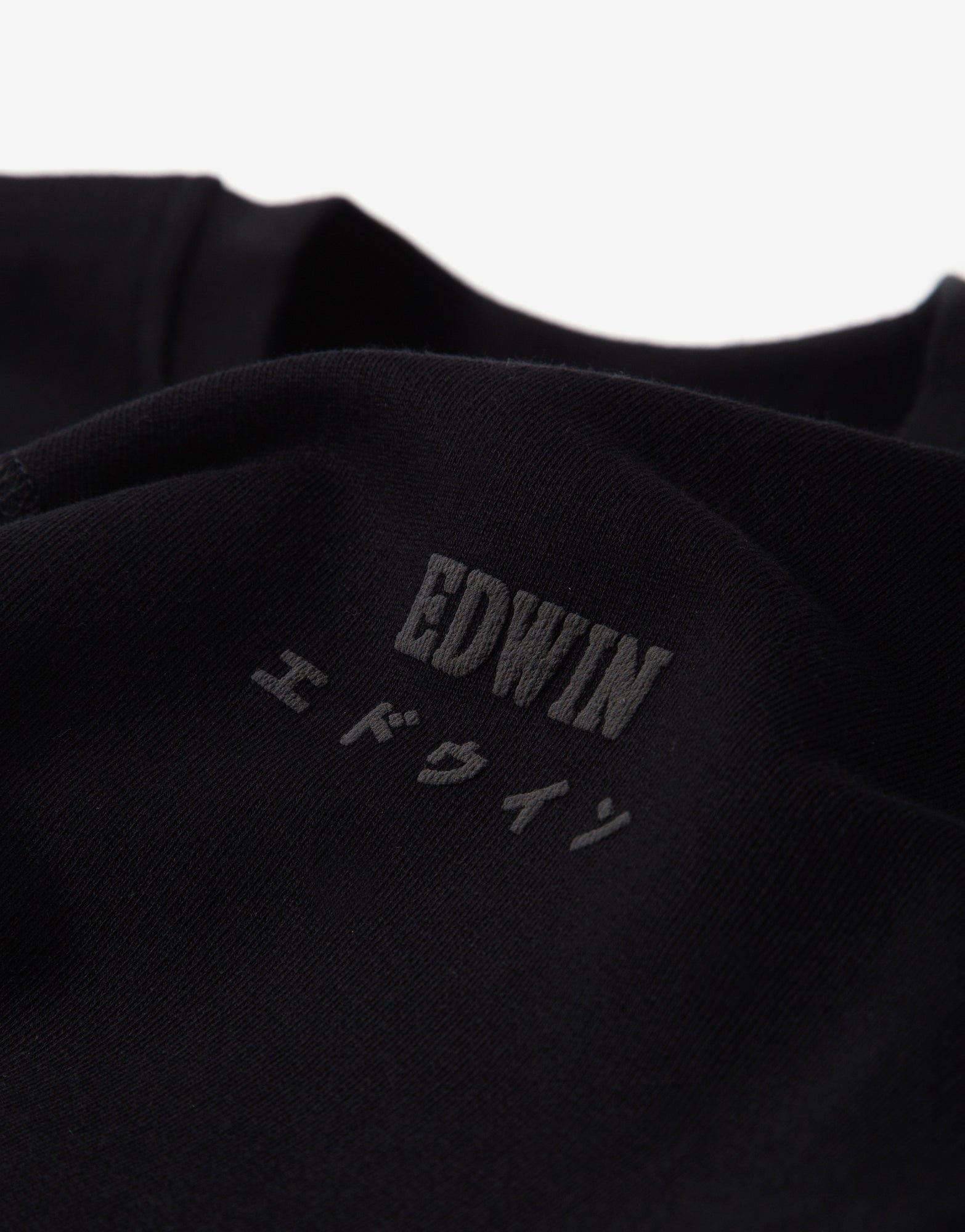 Edwin Base Crewneck Sweatshirt - Black