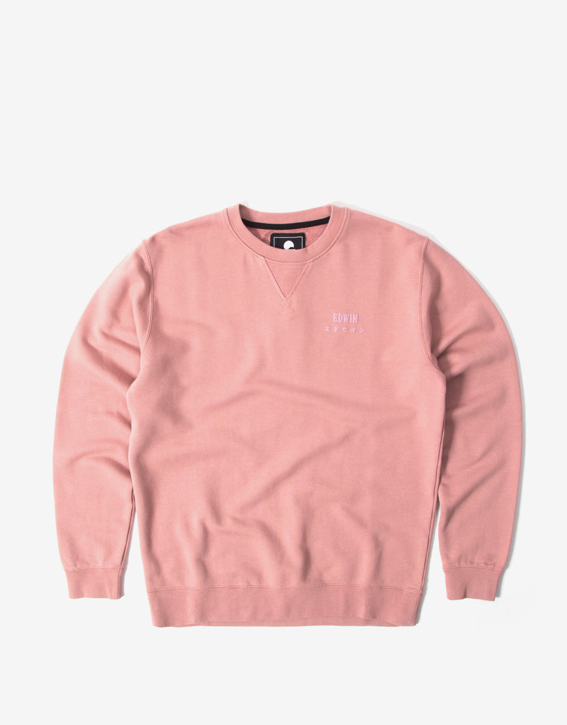 Edwin Base Crewneck Sweatshirt - Woodrose
