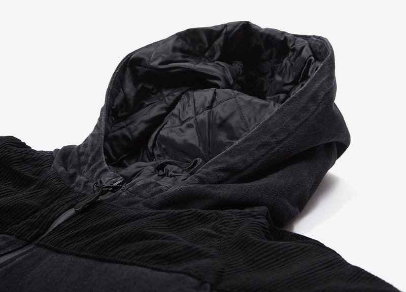 Edwin Hooded Popover Jacket - Kingston Black