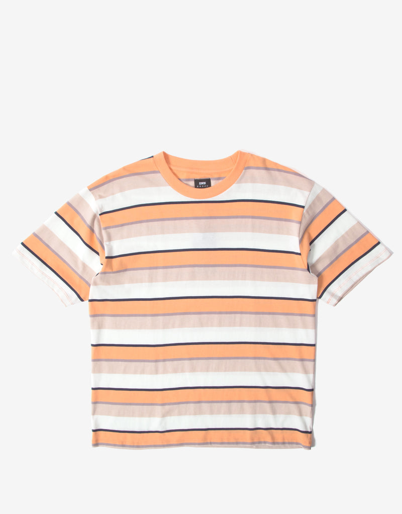 Edwin Quarter T Shirt - Cantaloupe Stripes