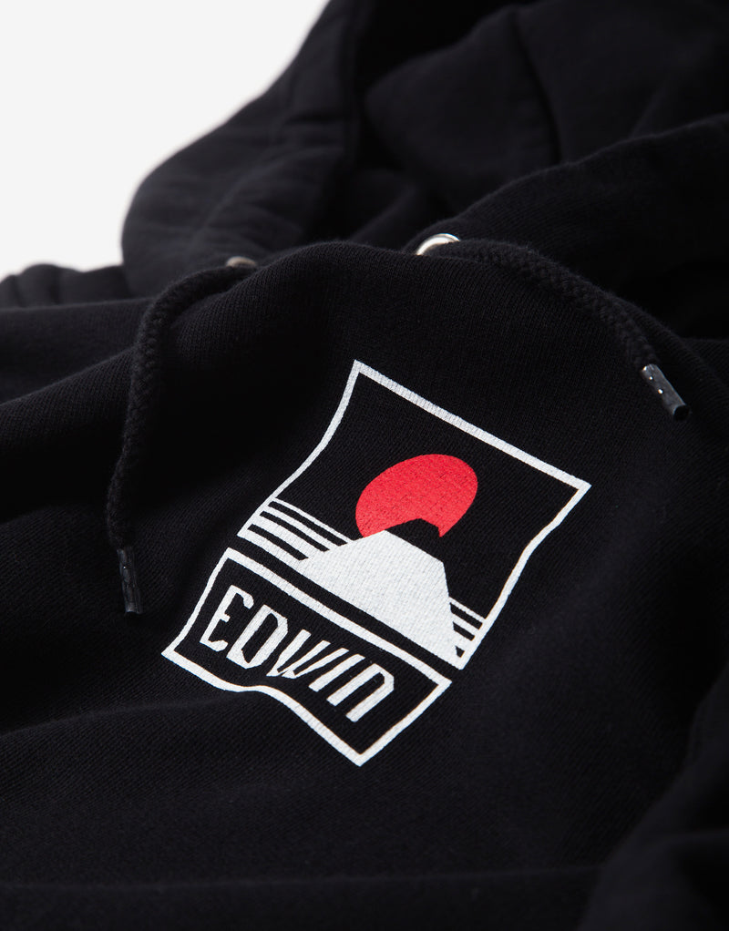 Edwin Sunset On Mt Fuji Hoody - Black