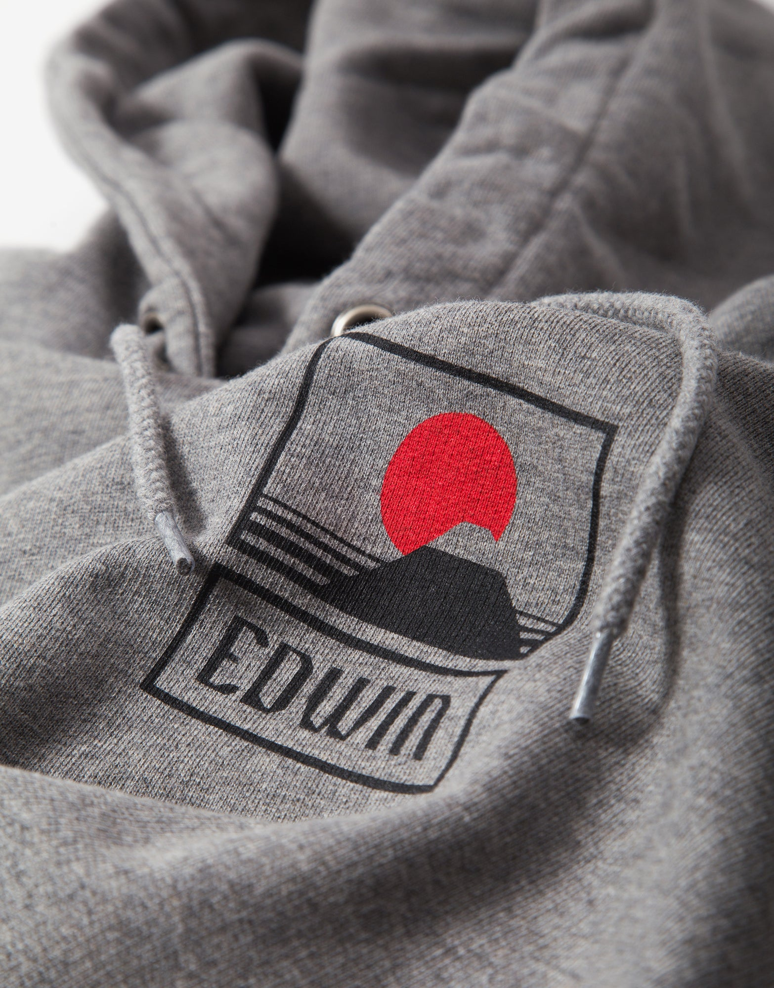 Edwin Sunset On Mt Fuji Hoody- Mid Grey Marl