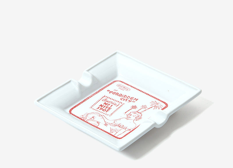Good Worth & Co Forbidden City Ashtray - White
