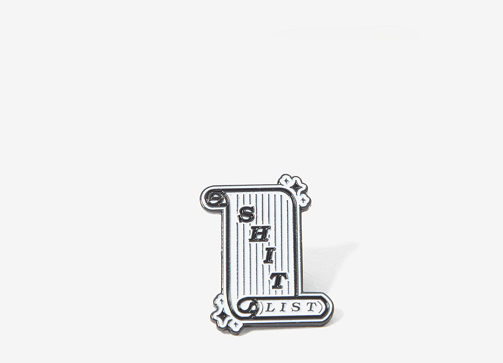 Good Worth & Co Shit List Pin - Allover