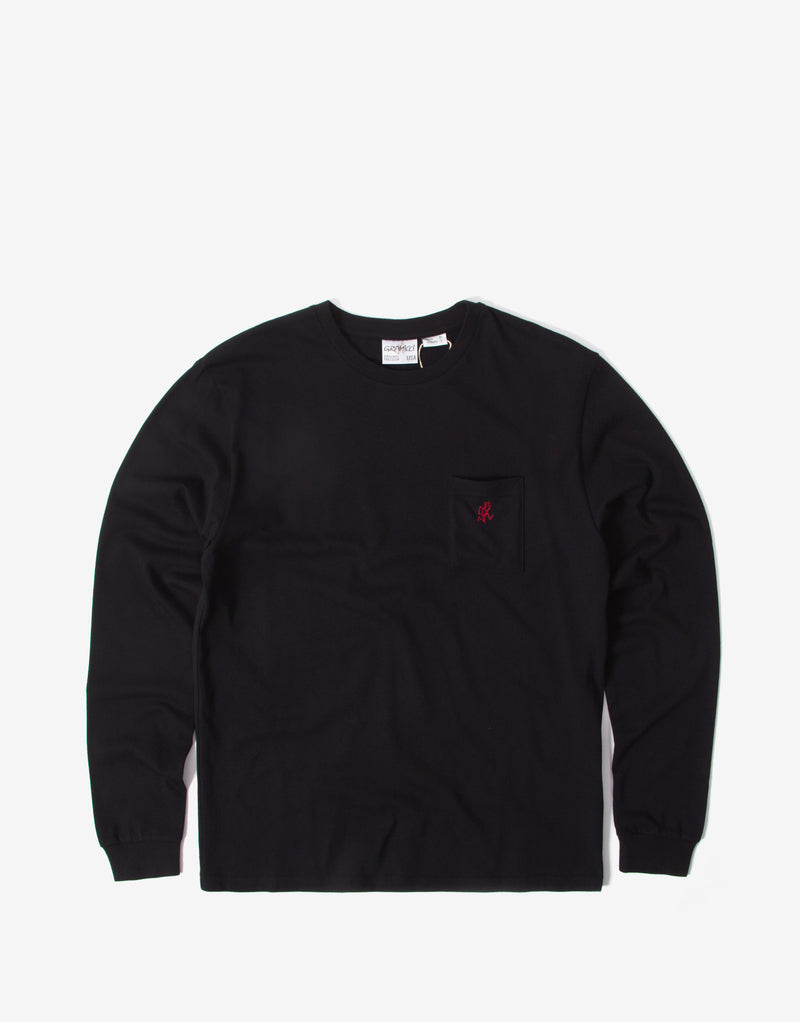 Gramicci One Point Long Sleeve T Shirt - Black