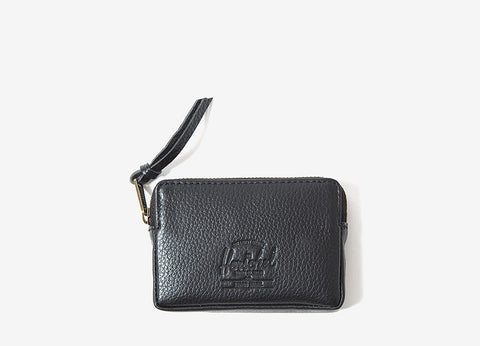 Herschel Supply Co Oxford Wallet - Black Pebbled Leather