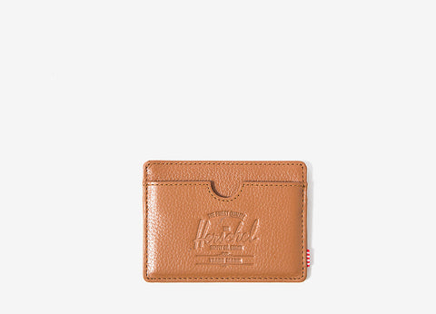 Herschel Supply Co Charlie Card Wallet - Tan Pebbled Leather