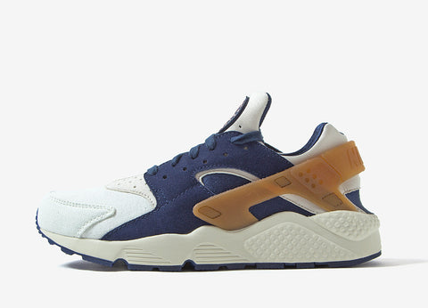 Nike Air Huarache Run PRM Shoes - Sail/Midnight Navy