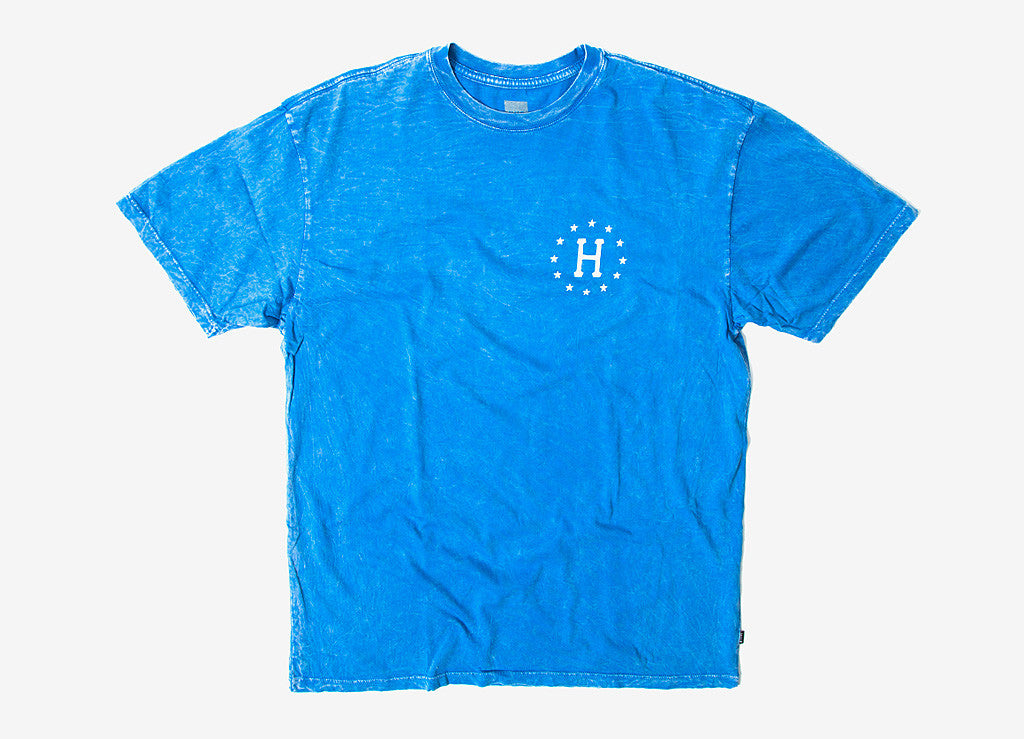 HUF 12 Galaxies Cloud Wash T Shirt - Blue
