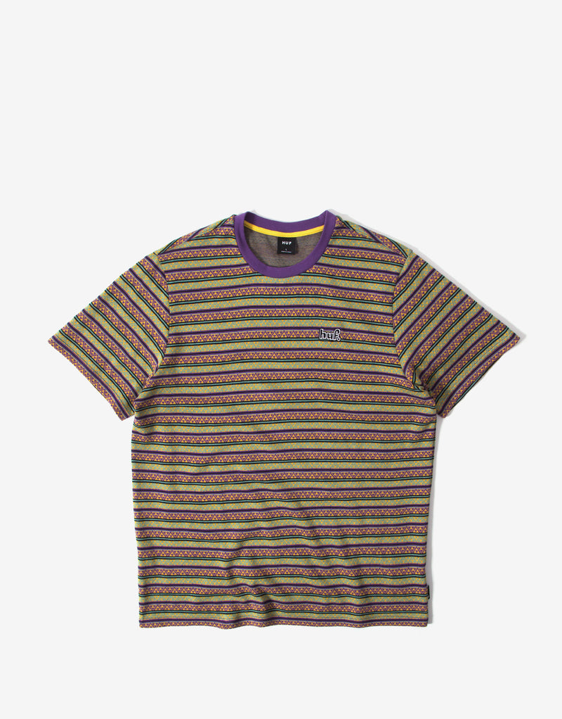 HUF Allen SS Knit T Shirt – Grape