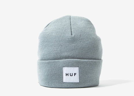 HUF Box Logo Beanie - Heather Grey