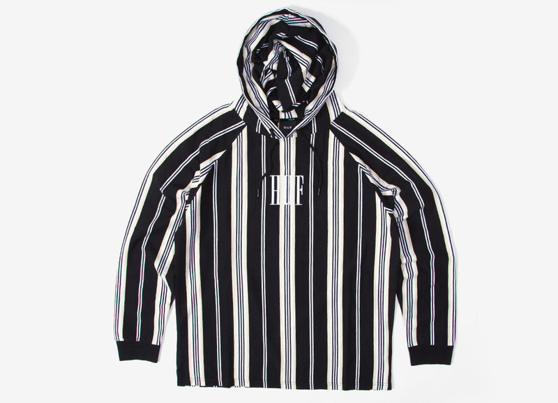 HUF Buren Striped Knit Hoody - Black