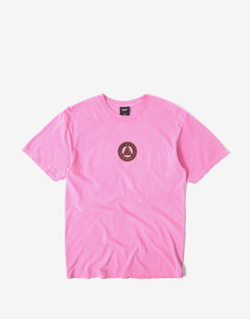 HUF Color Tech Triple Triangle T Shirt - Hot Pink