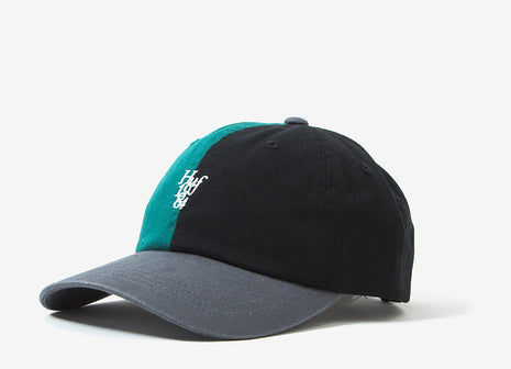 HUF Country Club Curve Visor Dad CapDad Cap - Black