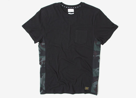 HUF Covert Pocket T Shirt - Black