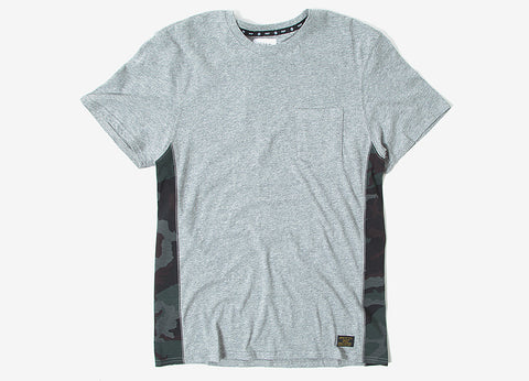 HUF Covert Pocket T Shirt - Grey Heather