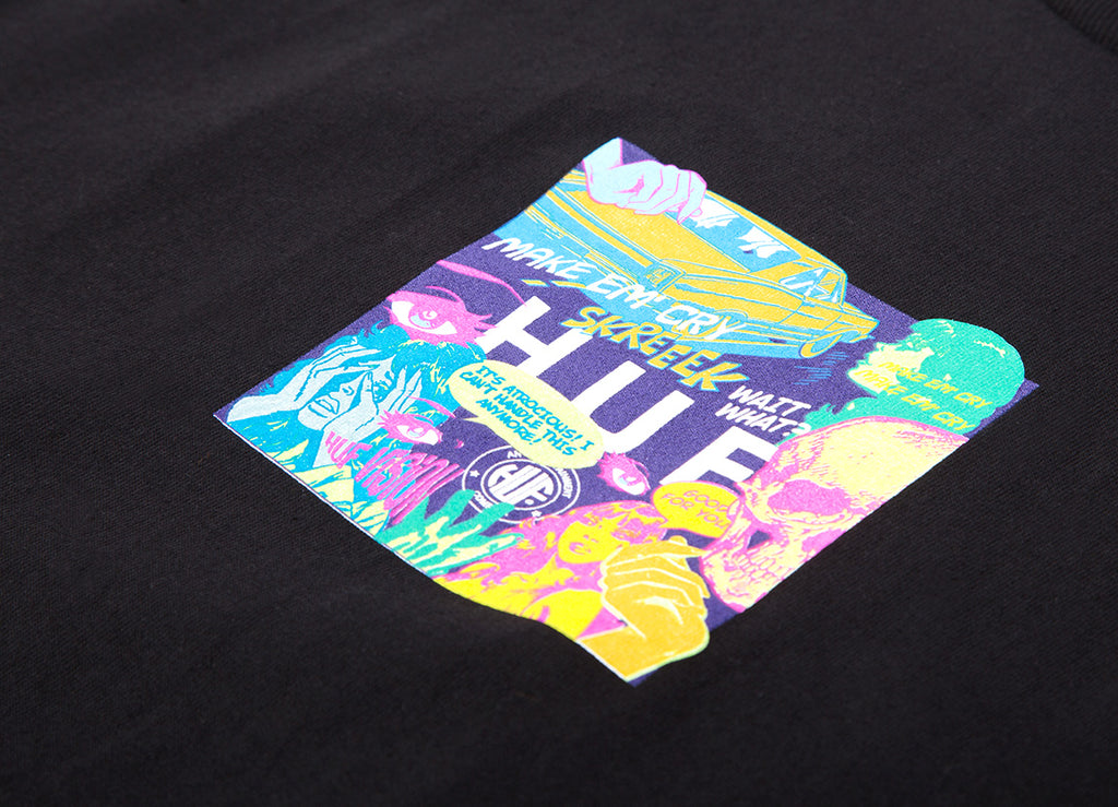 HUF Comics Box Logo T Shirt - Black