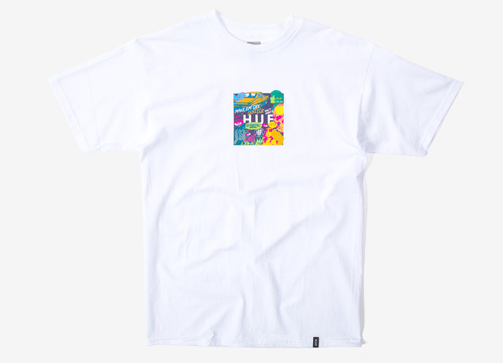 HUF Comics Box Logo T Shirt - White