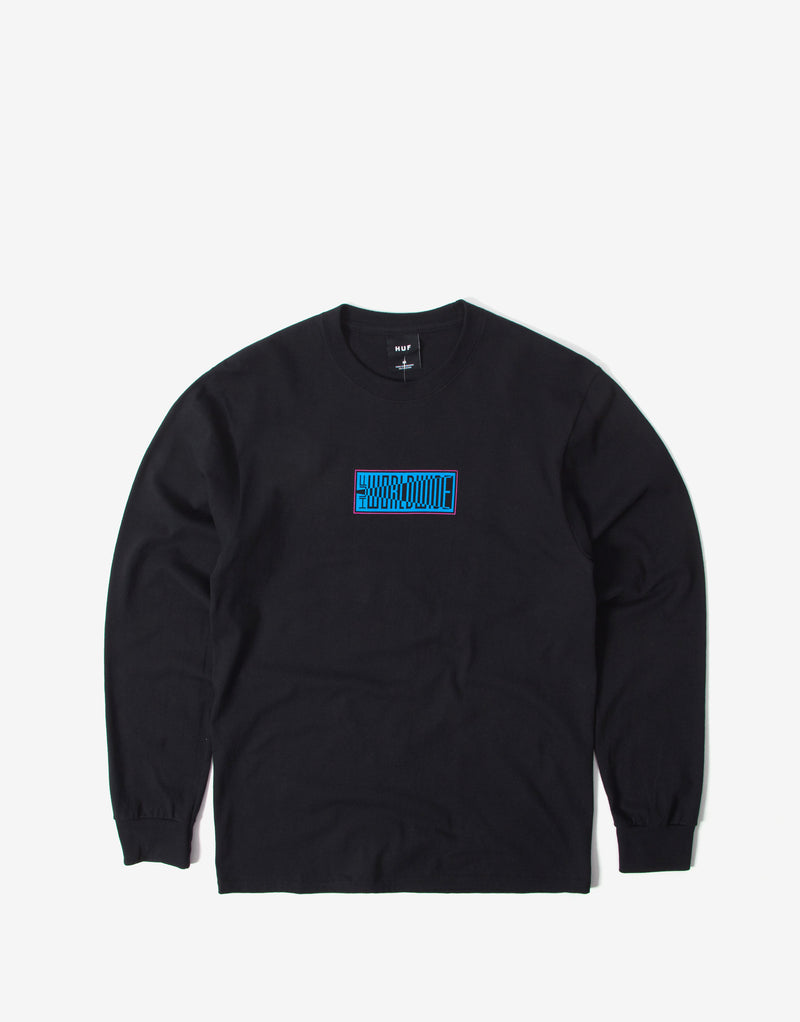 HUF Deja Vu Long Sleeve T Shirt - Black