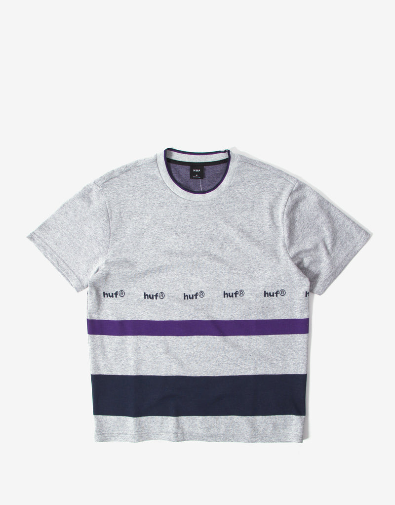 HUF Ellis YDS Knit T Shirt - Grey Heather