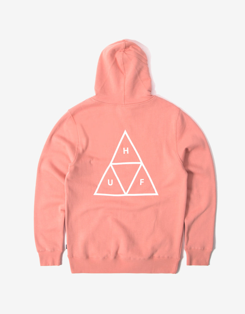HUF Essentials Triple Triangle Pullover Hoody - Coral Haze