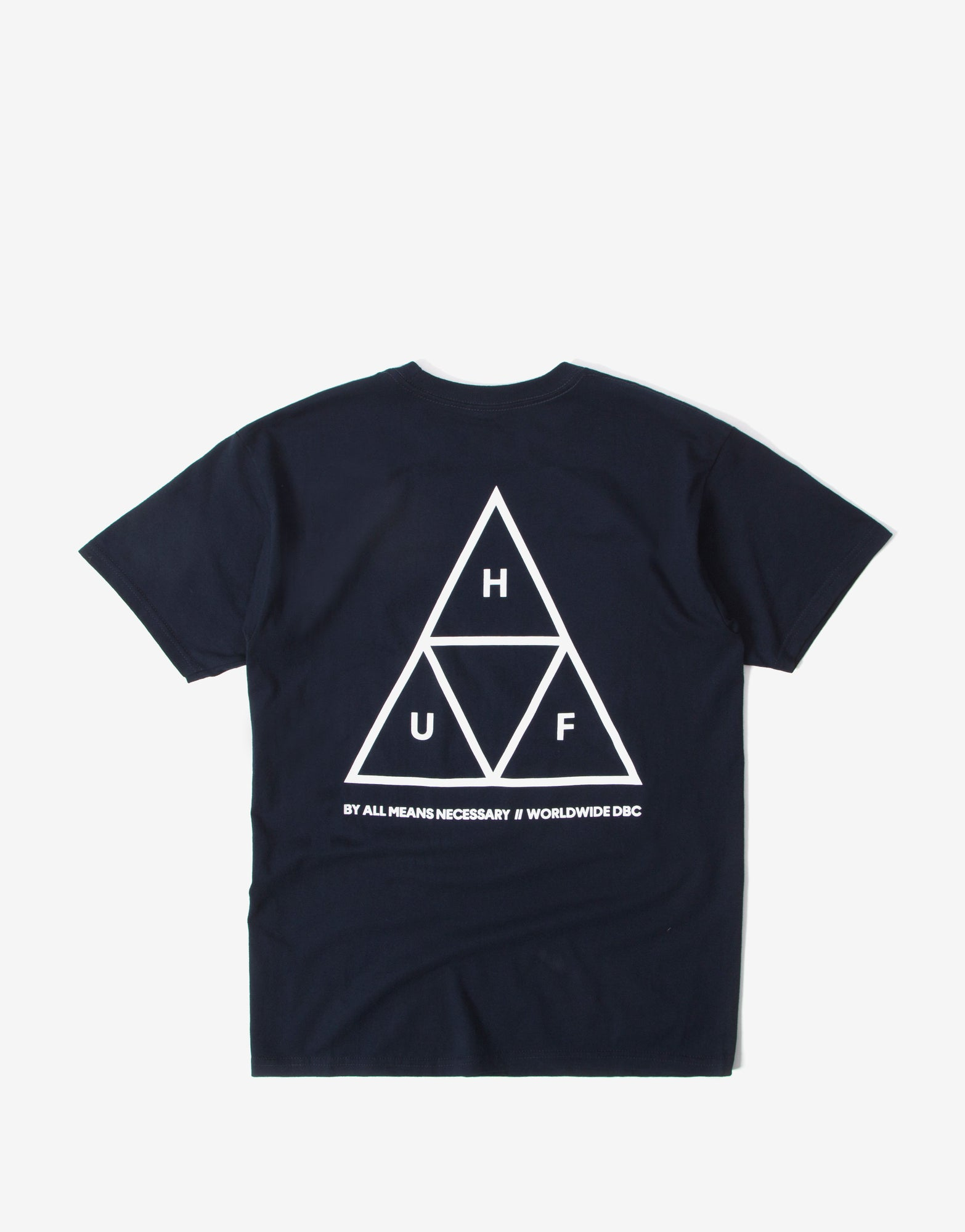 HUF Essentials Triple Triangle T-Shirt - Navy
