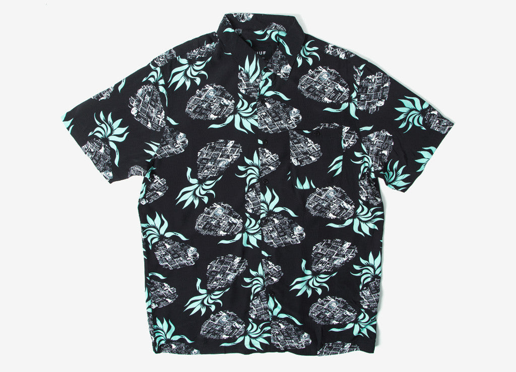 HUF Fantasy Island Short Sleeve Shirt - Black