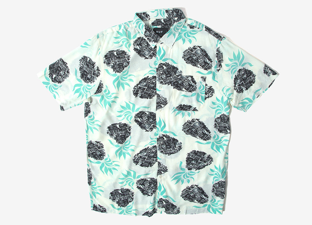 HUF Fantasy Island Short Sleeve Shirt - White