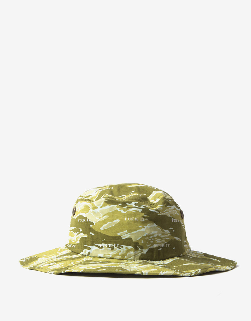 HUF Fuck It Tiger Camo Boonie Hat - Dusty Olive