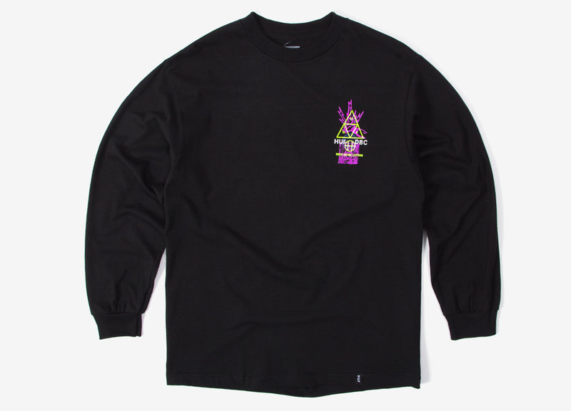 HUF Full Frequency TT Long Sleeve T Shirt - Black