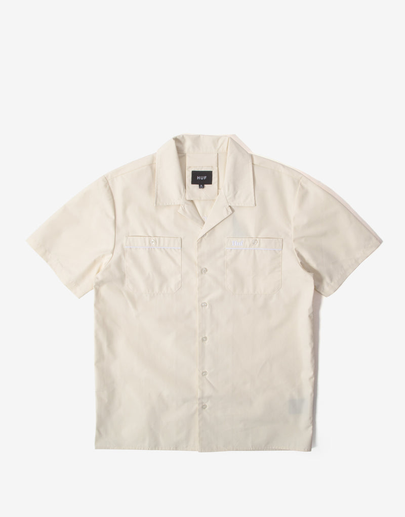 HUF Gas Station Short Sleeve Shirt - Off White