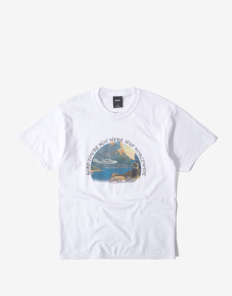 HUF Glad You're Not Here T Shirt - White