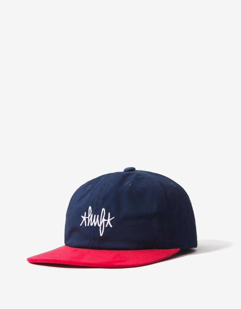 HUF Haze Contrast 6 Panel Cap -  French Navy