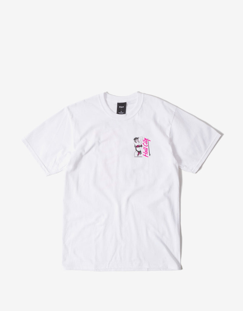 HUF Hell City T Shirt - White