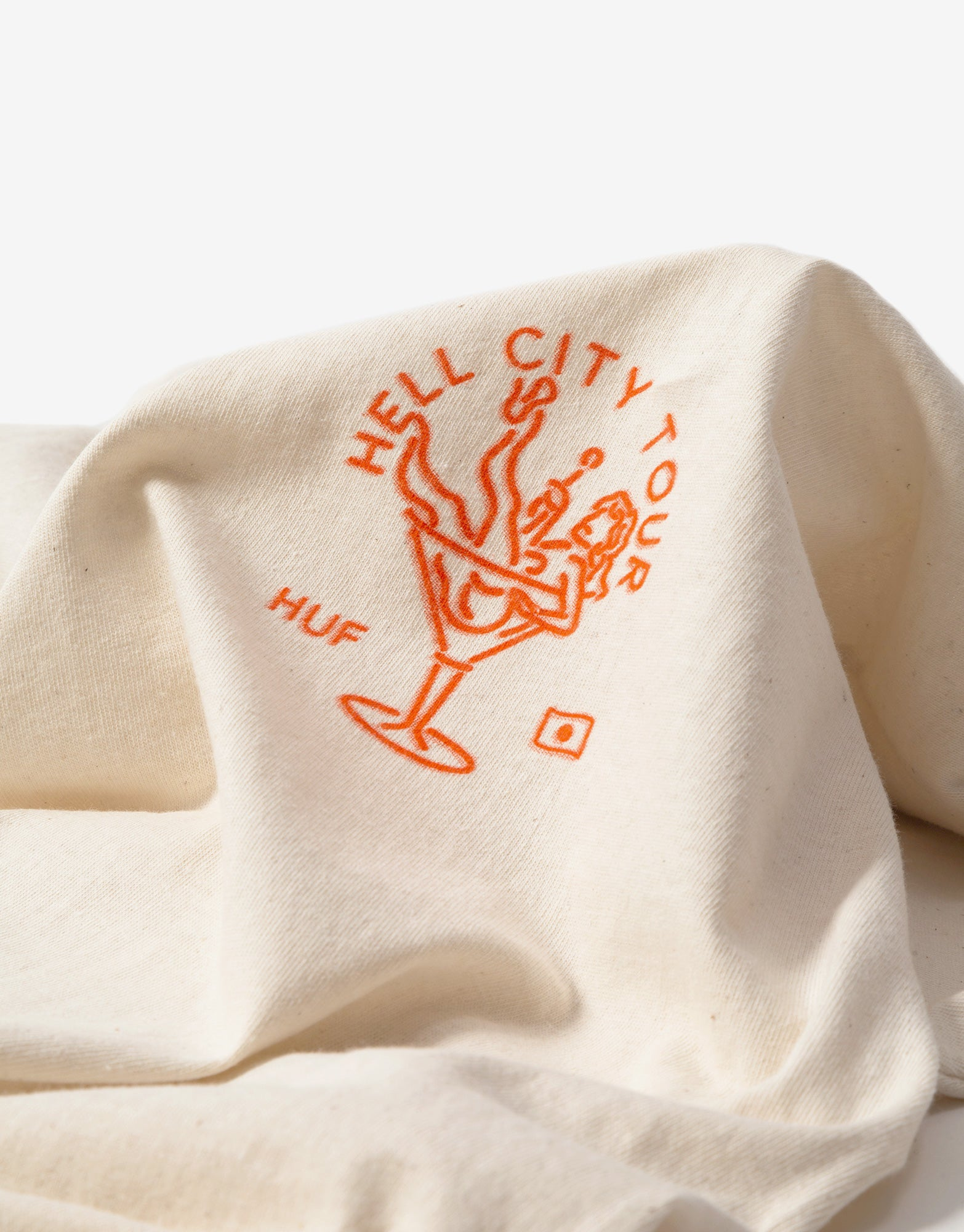 HUF Hell City Tour T Shirt - Cream
