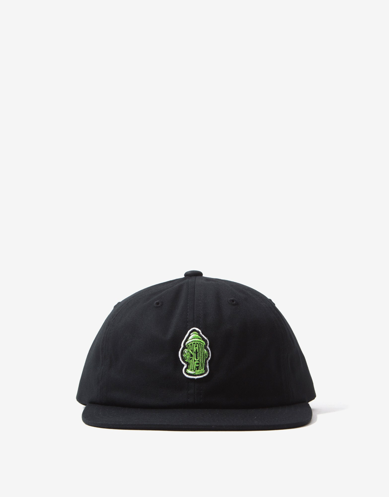 HUF Hydrant Unstructured 6 Panel Cap - Black