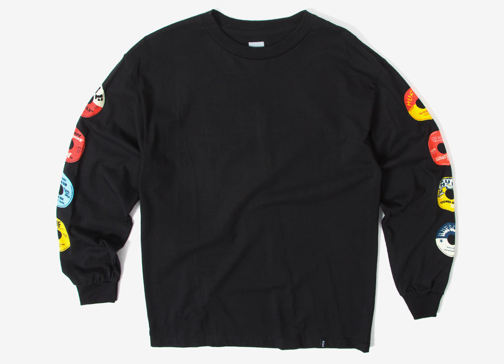 HUF 45 RPM Long Sleeve T Shirt - Black