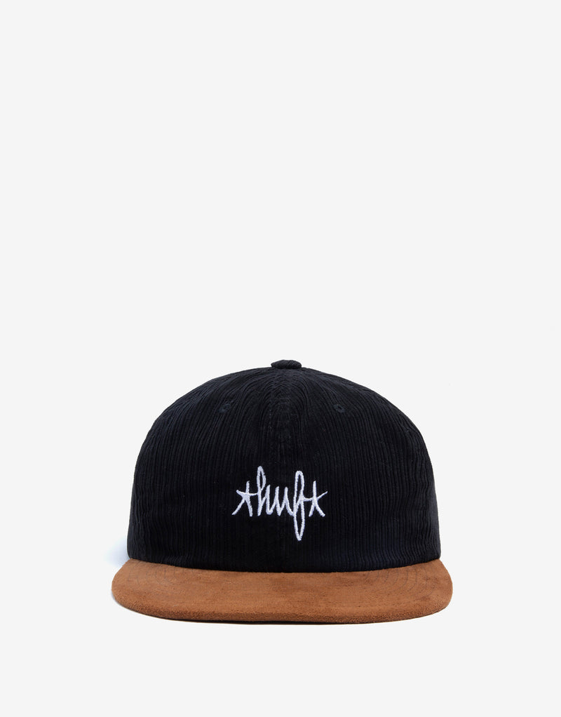 HUF Landmark Cord 6 Panel Cap - Black