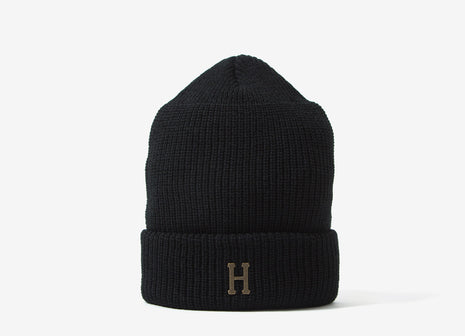 HUF Brass H Military Beanie - Black