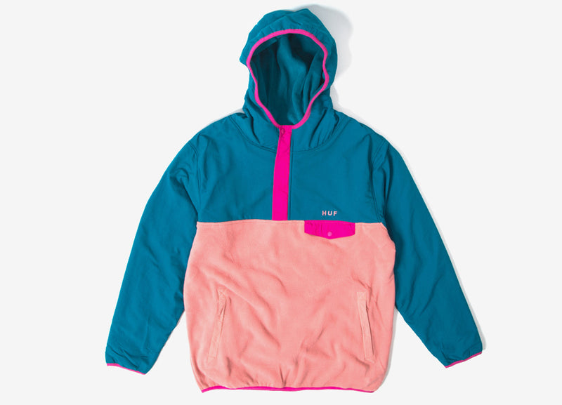 HUF Muir Hooded Pullover Jacket - Dark Teal