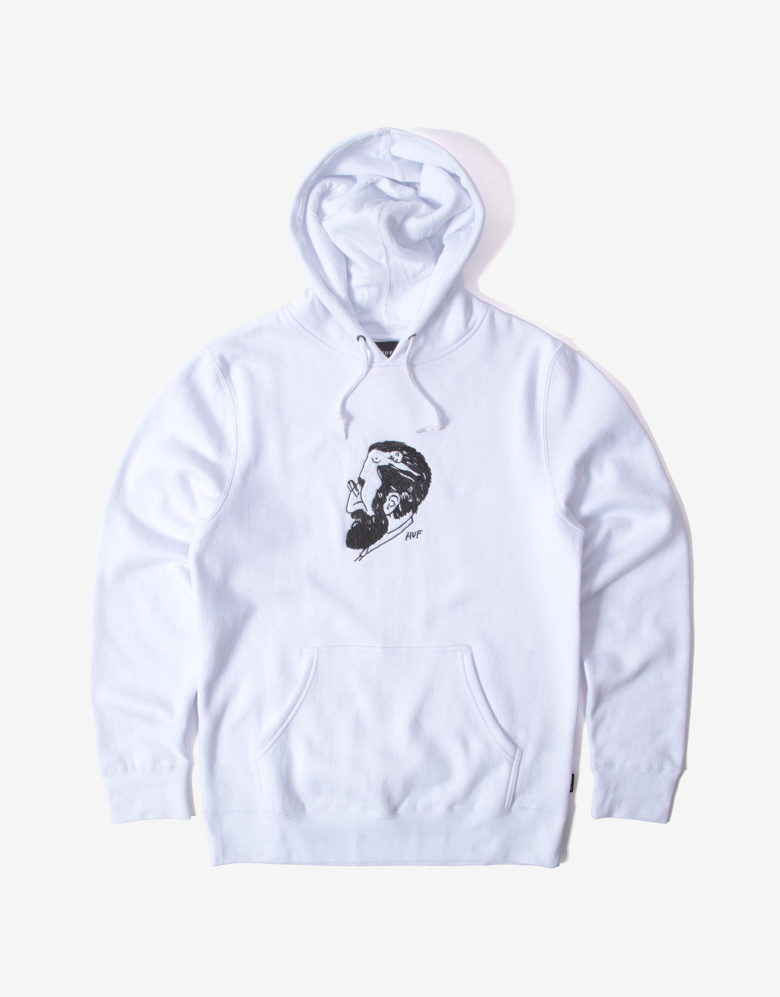 HUF Mans Mind Pullover Hoody - White