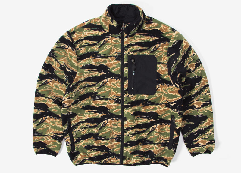 HUF Milton Reversible Fleece Jacket - Tiger Camo