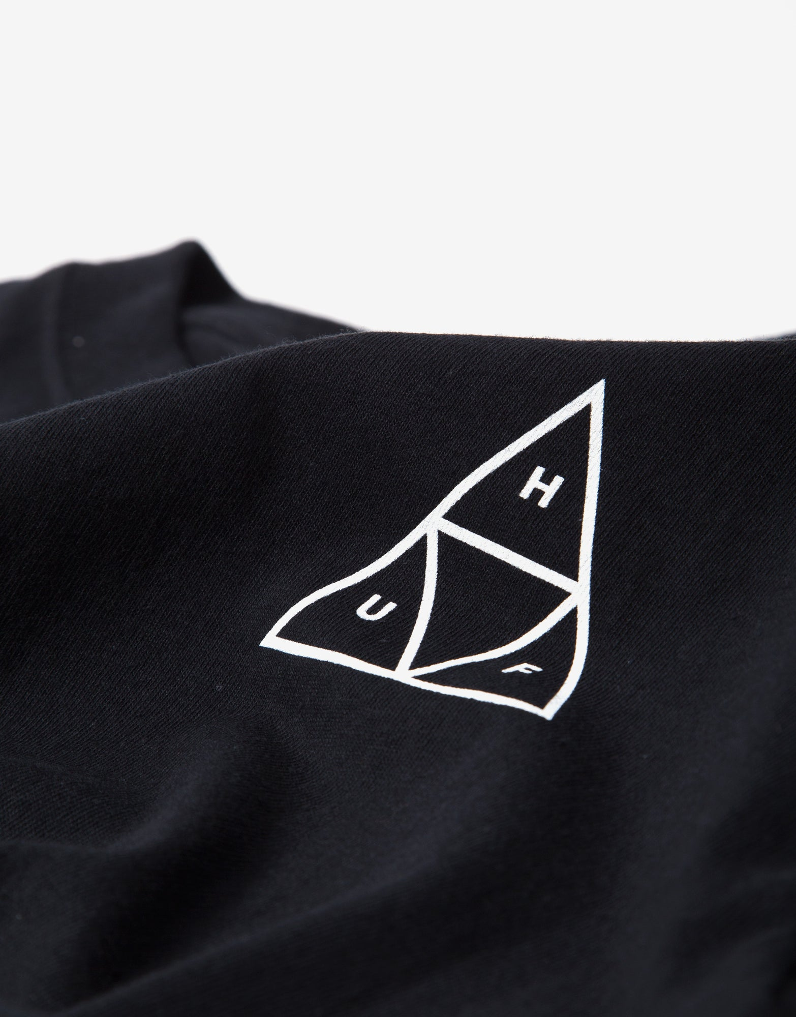 HUF Mirage Triple Triangle T Shirt - Black
