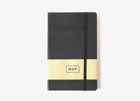 HUF Leather Bound Notebook - Black