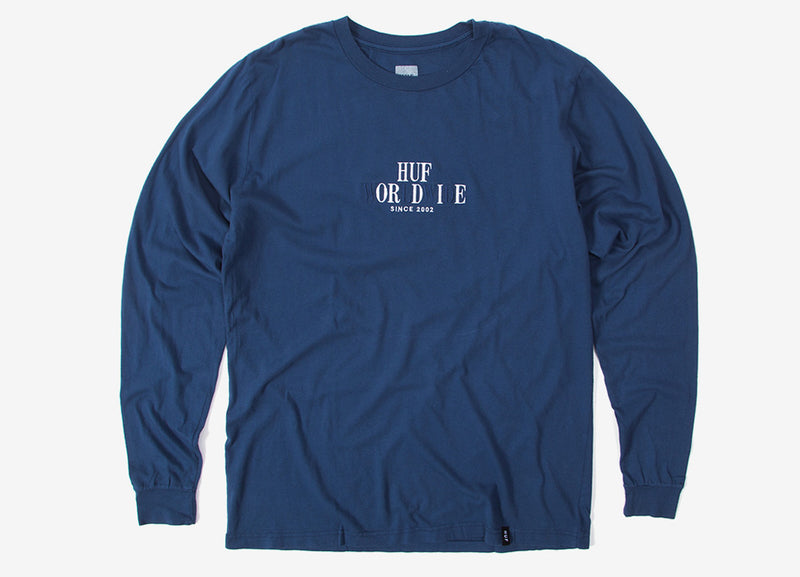 HUF Or Die Long Sleeve T Shirt - Insignia Blue