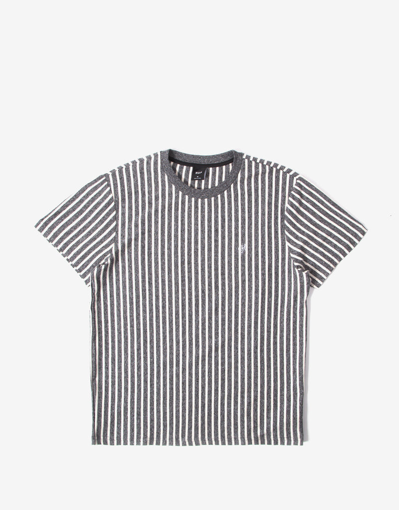 HUF Overdyed Vertical Stripe T Shirt - Off White