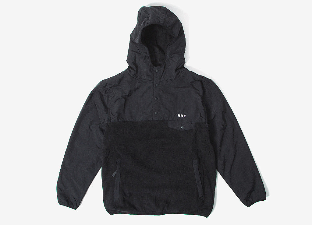 HUF Tofino Hooded Polar Pullover - Black