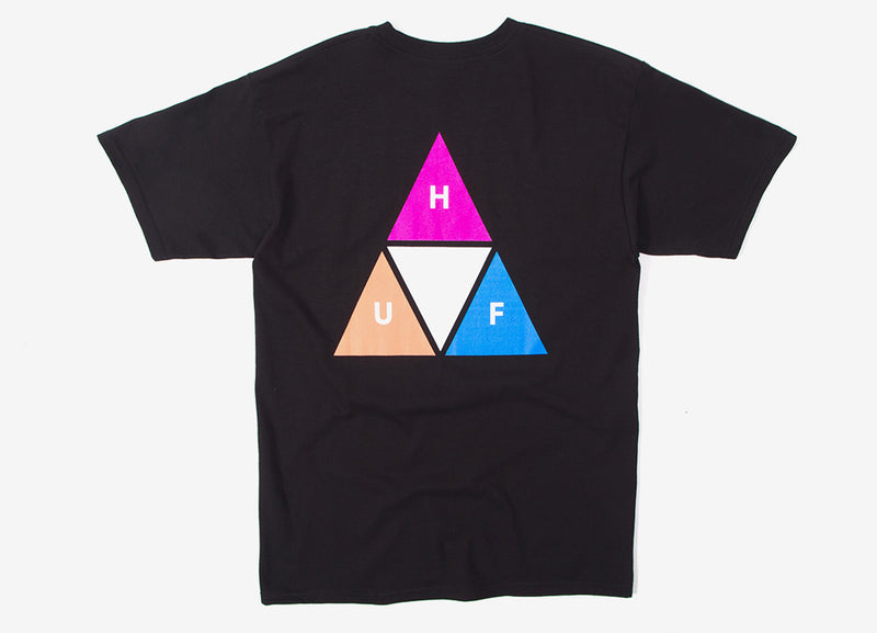 HUF Prism Triple Triangle T Shirt - Black