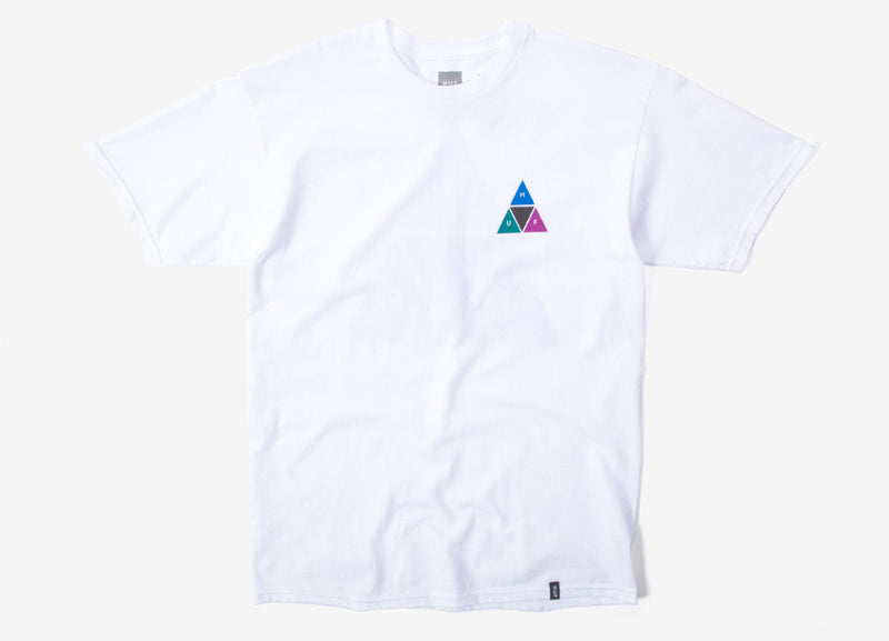 HUF Prism Triple Triangle T Shirt - White